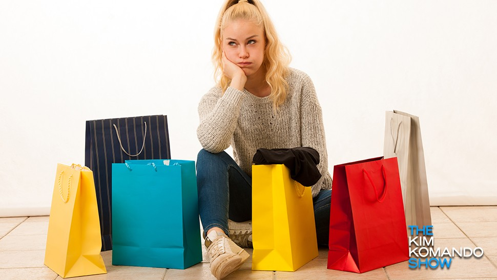 woman mystery shopper with bags